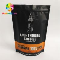 Buy cheap Resealable Ziplock Stand Up Coffee Pouches Bag For Food , Custom Size from wholesalers