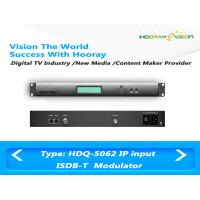 Buy cheap ISDB T Digital TV Modulator With Adaptive Linear / Nonlinear Digital Pre - Distortion product