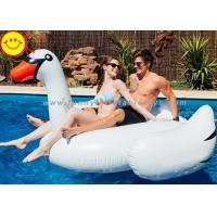 Best White Inflatable Water Floats , Inflatable Swan Pool Toy For Two Adult wholesale