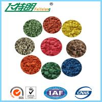 China Color Synthetic EPDM Rubber Granules Flooring Material / Waterproof Rubber Surfacing Mat Material on sale