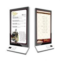 China 32 Inch Wall Mount All-In-One Food Kiosk Self Service Kiosk Bulit In POS System, Card Reader, Printer on sale