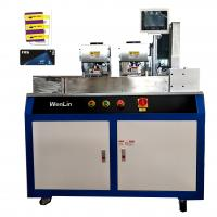 Cheap VIP ID card printing single/double side PVC Card Cutting Machine  for standard card 3tags card for sale