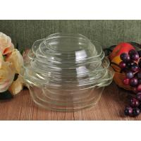 Best Pyrex Glass Tableware Clear Glass Oven Bowls with Lid , 4 Sizes Heat Resistant Eco-friendly wholesale