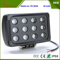 """Best 7"""" 36W 3600LM LED work light in optional spot or flood beam for tractor,jeep,SUV and 4WD wholesale"""