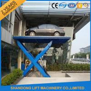 Best Home Garage Hydraulic Scissor Car Lift , Automotive Vehicle Lifts Equipment wholesale