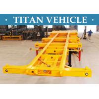 Best 3 Axle Container Trailer Chassis , 20ft / 40ft Skeleton Semi Trailer wholesale