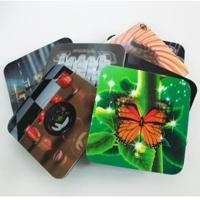 Best 2020 fashion christmas 3D Lenticular greeting cards,glitter printing cards 3D lenticular postcard wholesale
