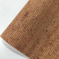 Easy Cleaning Thin Cork Sheet , Patterned Leather Fabric Colorful Tear Resistant
