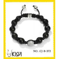 Best Black and white crystal & alloy 10mm beaded crystal bracelets for anniversary, gift, party wholesale