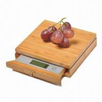 China Bamboo Digital Electronic Kitchen Scale, 5kg/1g with Drawer, Novelty Drawer Design, Made of Bamboo on sale