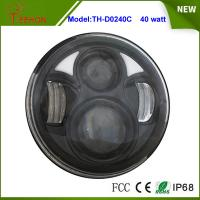 """Best 2015 Newest 5.75"""" Round 40W High beam/Low beam LED headlight for Harley Motorcycle wholesale"""