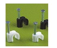 China circle cable clip,Plastic Wall cable clip,CE Certificate on sale