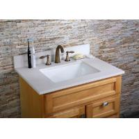 China White Custom Bathroom Vanity Tops Narrow Square Single Sink Prefabricated on sale