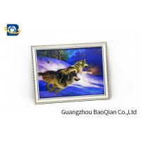 Best Flip Image 3D Wolf Picture , Dolphin 3D Animal Pictures Wall Decoration Art wholesale