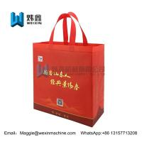 Best Customized Red Eco Non Woven Bags With Tote Handles Foldable Bag 100gsm wholesale