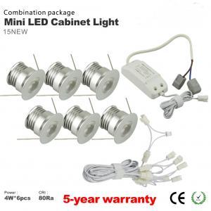 Best 6PCS *4W Mini LED Wine Cabinet Spotlight LED Driver LED Bulbs Recessed Showcase light wholesale