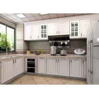 Best White Particle Board Pvc Custom Kitchen Cupboards Traditional L Shape With Fridge wholesale