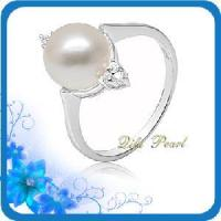 Best 925 Silver Freshwater Pearl Rhodium Coating Jewelry Ring (RB0007) wholesale