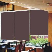 China Blackout roller shade with plastic ball chain, double sides brown color coating, 200/230cm width on sale