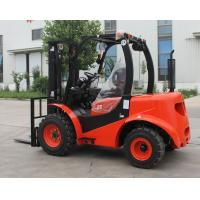 Best Red Steel 2 Wheel Drive Forklift , Compact All Terrain Forklift 2.5 Ton wholesale