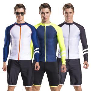 China 2017 newly design mens long sleeve rash guard swim suit diving suit with shorts pants wholesale on sale
