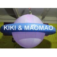 China Inflatable UFO Saturn Helium Balloon , Custom PVC Advertising Character Balloon on sale
