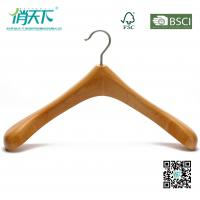 China Betterall Pearl Nickle Hook Natural Beech Wood Coat Hanger on sale