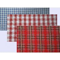 Best Seersucker Yarn Dyed Custom Cotton Fabric Plaids and Stripes Elastic Crepe Fabric wholesale