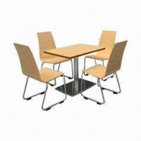 Best Laminated Melamine Restaurant Tables and Chairs with Plastic Resins Anti-slip wholesale