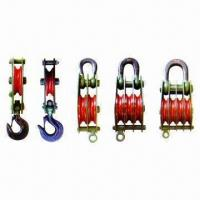 Buy cheap Single/Double/Multipal Pulley Blocks with Vairous Hook, Measuring 2 to 6 Inches from wholesalers