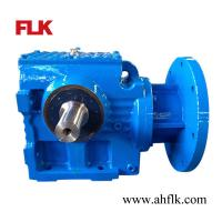 Best S67 flange mounted reducer helical worm gearmotor solid shaft gearbox wholesale