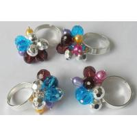 Best Handmade rings,good jewelry,made of iron and other imitation bead wholesale