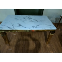 China Living Room 900mm Wrought Iron Marble Table on sale
