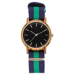 China Colorful Nylon Strap Zebra Wood Luxury Custom Logo Unisex Wrist Watch for men and women on sale