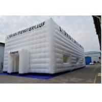 China White 10m x 10m Advertising Inflatable Tent , Outdoor Inflatable Cube Tent wholesale