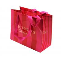 Best custom printed striped paper shopping bags manufacturer with handle wholesale