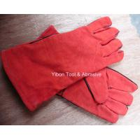 """Best 13"""" Red color Leather Welding Gloves wholesale"""