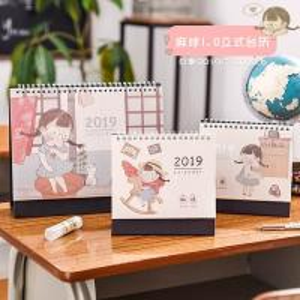 Best A5 142x210mm Paper Table Stand Desk Calendar / Customized Table Calendar wholesale