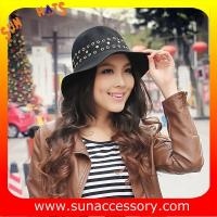 Best 6090433 Sun Accessory customized  winner  fashion  wool felt  clothe hats, women hats and caps wholesaling wholesale
