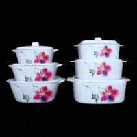 China Melamine Square Bowl with Cover; Measures 18.8 to 25.5cm; Over 800 Melamineware Items for Selection on sale