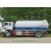 China 12000L Sewage Sucking Truck With Vacuum Pump , Sewer Cleaning Truck on sale