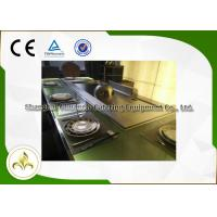 Best Green Light Glass Teppanyaki Hibachi Grill , Steel Frame Gas Flat Top Grill wholesale