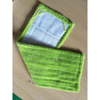 Best Green Twisted Fold Oxford Fabric Pocket Microfiber Wet Mop Pads 14*48 wholesale