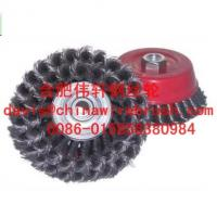 China Knotted Wire Cup Brush, Double Row on sale