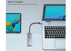 Best Alumium USB3.0x2 USB Type C Docking Station USB C To Dual HDMI Hub wholesale