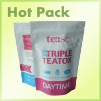 Best Top Zip Plastic Stand Up Pouch With Tear Notch , Personalised Biodegradable Tea Bags wholesale