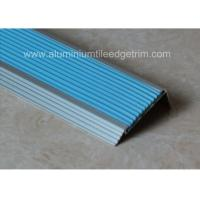 China Non Slip Aluminum Stair Nosing , Metal Stair Nose TrimWith Insert PVC Rubber on sale