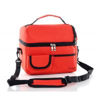 China Red Picnic Insulated Lunch Box Detachable With Adjustable Shoulder Straps wholesale