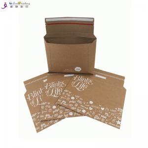 Best A5 Envelope Printing Services Rigid Kraft Cardboard Mailers Envelopes With Self Adhesive wholesale
