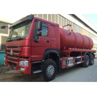 Best Transporting Sewage Septic Tank Cleaning Truck / Septic Pumping Truck 17CBM LHD 336HP wholesale
